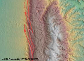 Active faults study in nation wide area