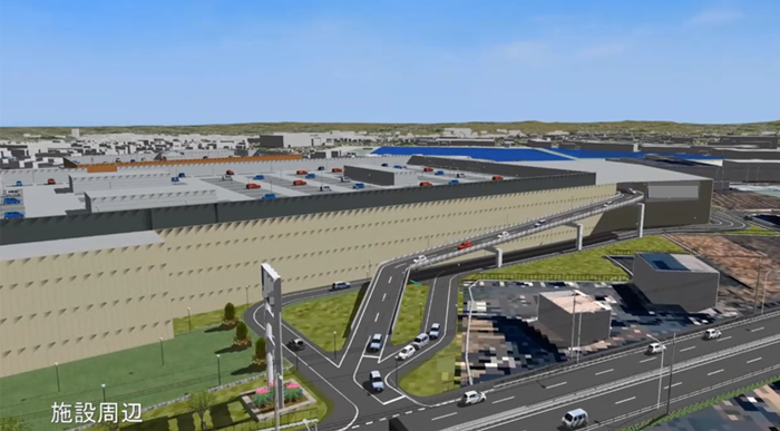 Utilizing AW3D, we reproduced the landscape of large store development and predicted traffic flow change by simulation.