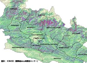 AW3Dを活用した「2015年ネパール大地震被害エリアの土砂災害ハザードマップ」
