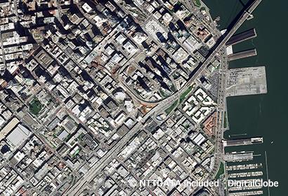 高精細衛星画像(サンフランシスコ )