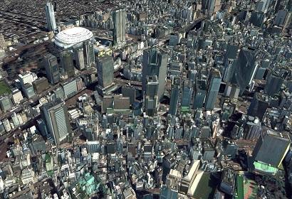 ビルディング3D データ テクスチャ付き(東京)
