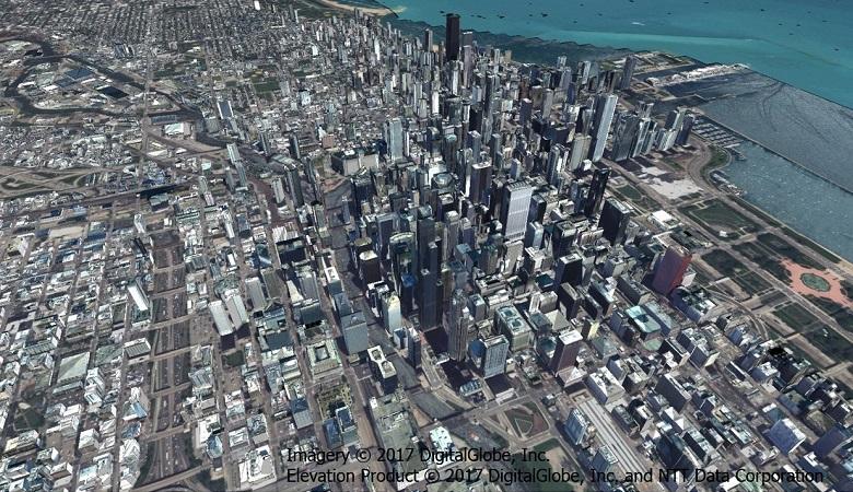 高精細3D都市データ(シカゴ)
