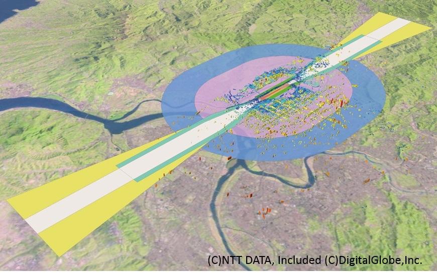 台北松山空港の地図データ(eTOD)