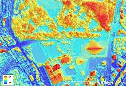 50cm解像度地形データ(高精細DSM)